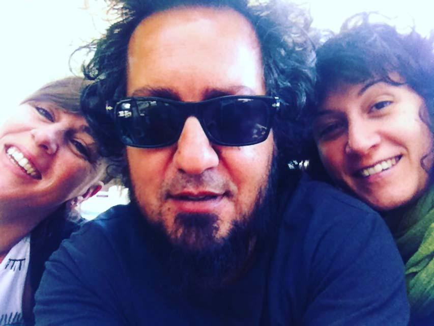 los tres en Santiago del Chile