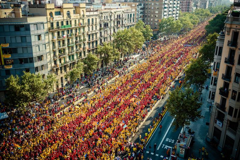 Indipendentisti a Barcellona