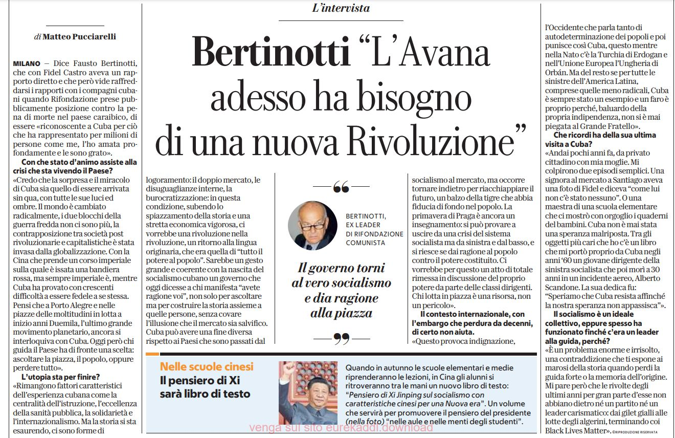 intervista a Bertinotti